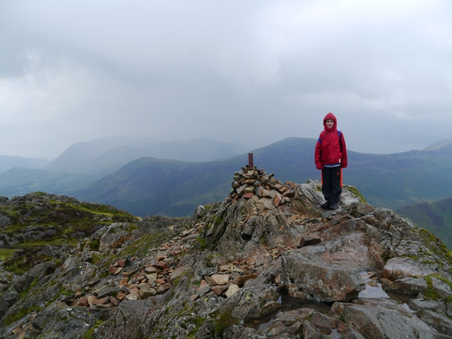 Liam on the summit of Haystacks