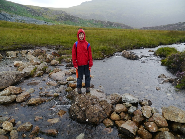 Liam crossing Warnscale Beck