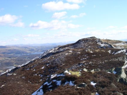 Looking back to the top of Lingmoor Fell
