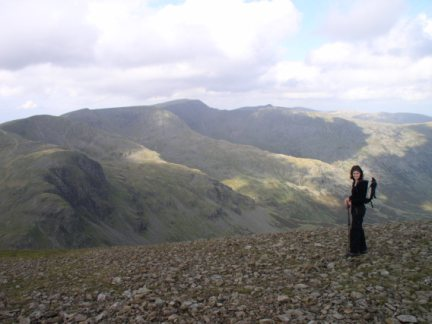 Lisa and the Helvellyn range
