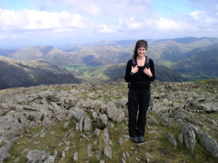 Lisa on Hart Crag