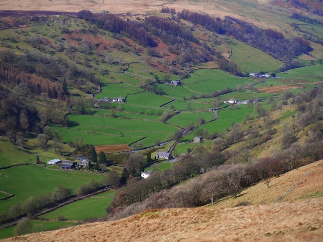 A zoom shot of Longsleddale from Todd Fell