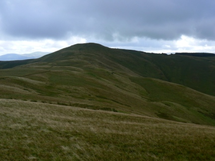 Looking back at Lord's Seat from the path to Broom Fell