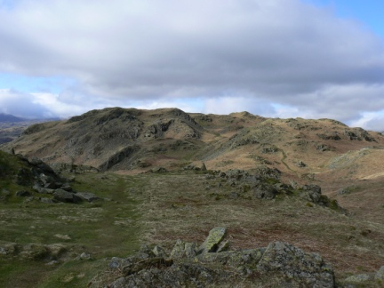 Looking back at the top of Loughrigg