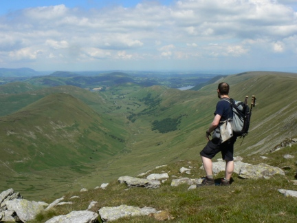 Enjoying the view of Martindale from Rampsgill Head