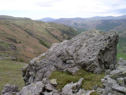 The massive boulder mentioned by Wainwright