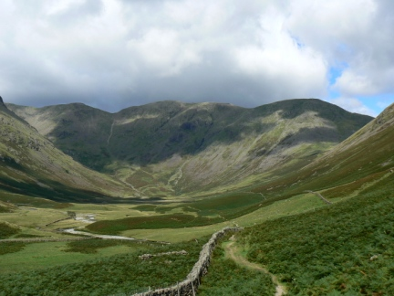 Looking up Mosedale towards Pillar