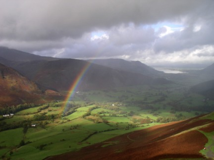 Rainbow over the Newlands Valley