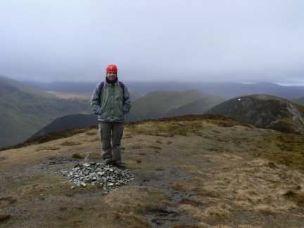 Nick on the top of Ard Crags