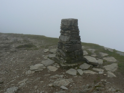 The trig point on the Old Man
