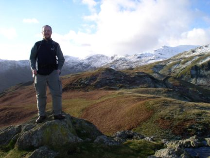 On the top of Arnison Crag