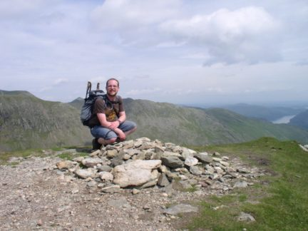 On the summit of Dollywaggon Pike