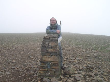 On the summit of Eel Crag