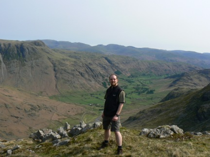 On Great Knott with Great Langdale below