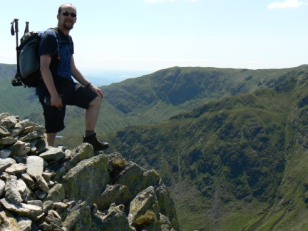 On the summit of Kidsty Pike