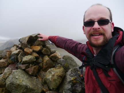 At the top of Scafell