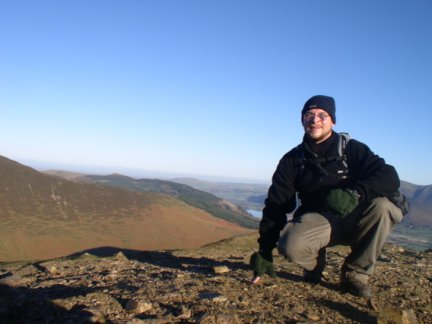 On the summit of Scar Crags