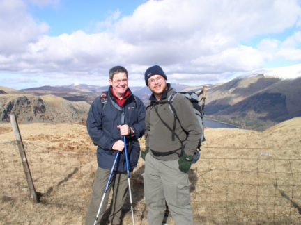 Me and Dave on Steel Fell