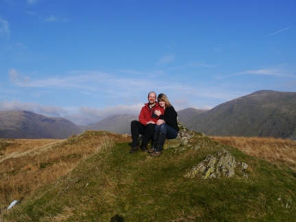 On the summit of Troutbeck Tongue