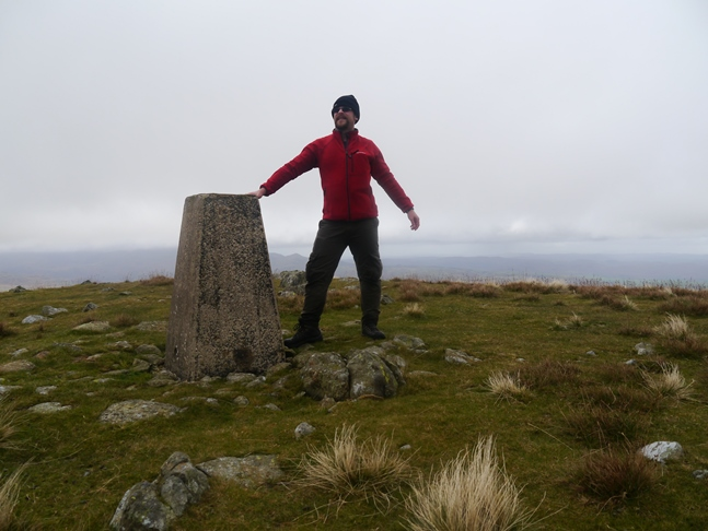 By the trig point on Whitfell