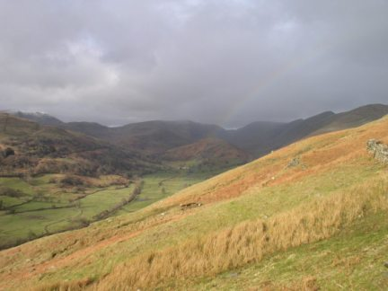 A rainbow over the Troutbeck valley