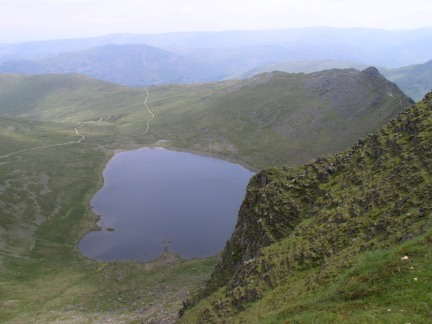 Looking down to Red Tarn