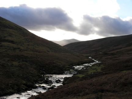 The River Caldew and a distant Skiddaw Little Man