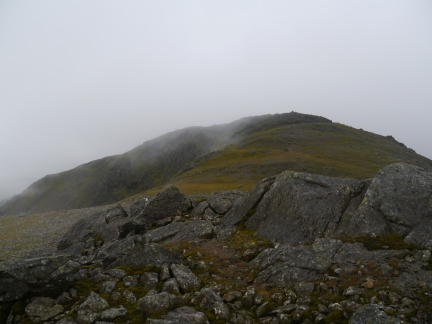The top of Scafell from Symond's Knott