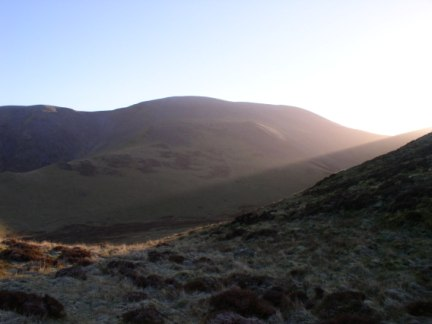 Skiddaw from the beginning of the Ullock Pike ridge