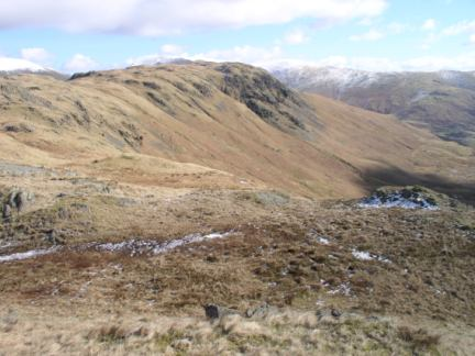 Looking along the ridge to Steel Fell