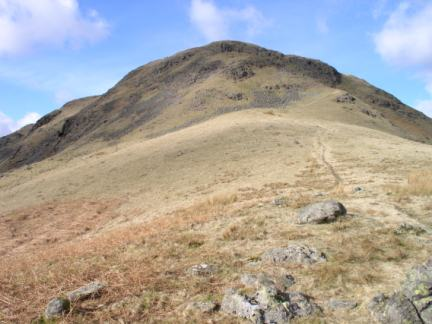 Looking back up at Steel Fell