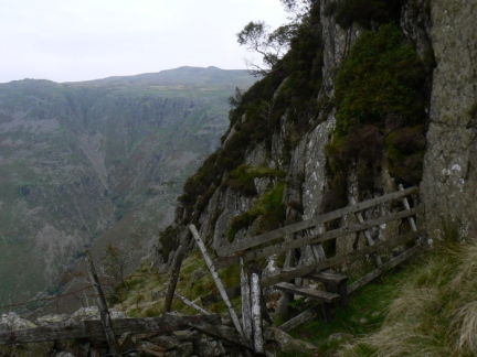 The stile just below Eagle Crag