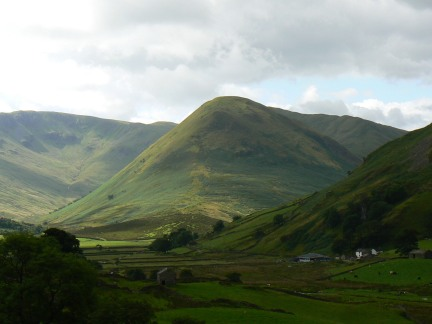 The view down Martindale towards The Nab