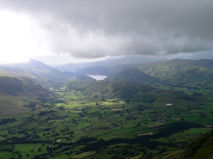 Looking south over St John's in the Vale towards Thirlmere