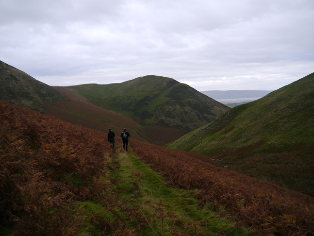 Tim and Jack on the path above Blackcombe Beck