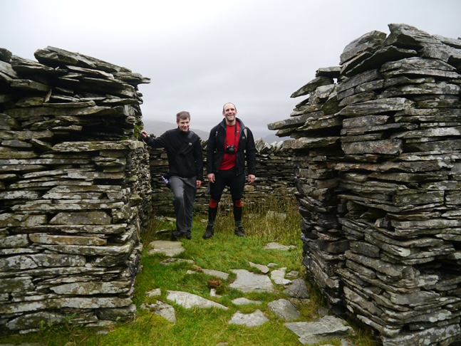 Tim and Jack at Walna Scar Quarry