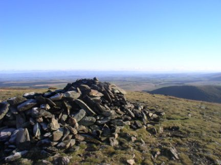 The summit cairn of Bowscale Fell