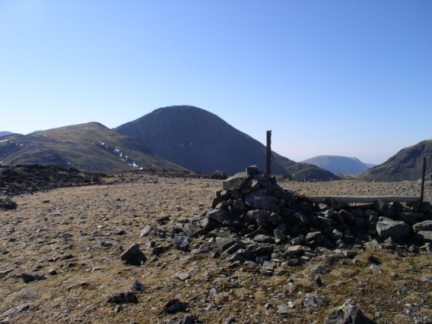 The top of Brandreth looking to Great Gable