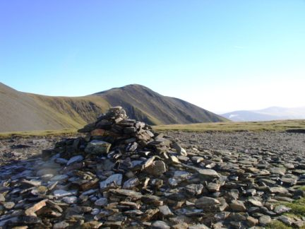 The summit cairn on Carl Side