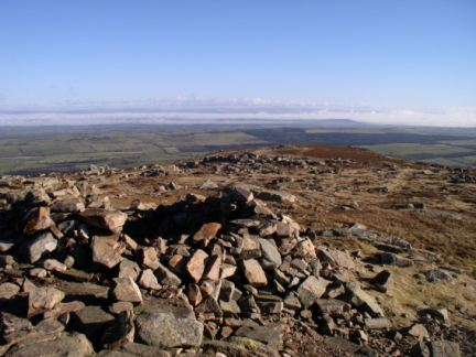 The top of Carrock Fell