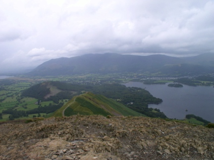 The top of Cat Bells looking north towards Skiddaw