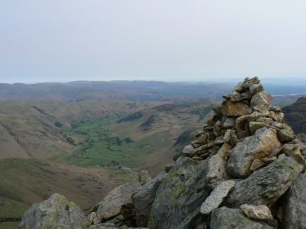 Great Langdale from the top of the middle Crinkle