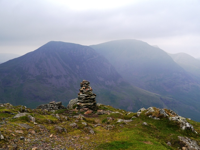 The top of Fleetwith Pike looking towards High Crag and High Stile