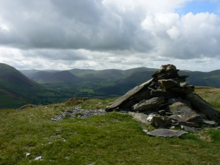 The top of Graystones looking towards the Loweswater Fells
