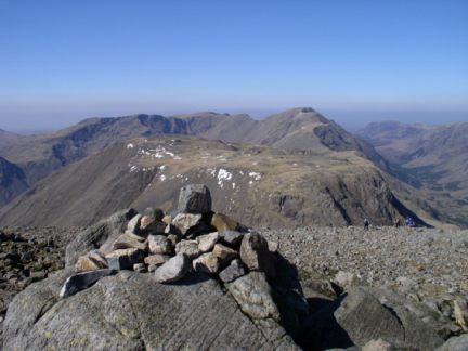 The summit cairn on Great Gable