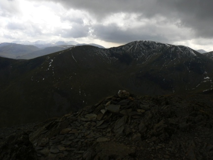 The top of Grisedale Pike looking towards Eel Crag and Sail
