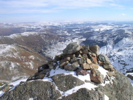 The summit of Harrison Stickle