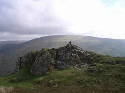 The top of High Pike looking towards Red Screes