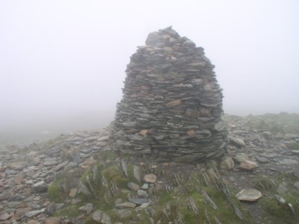 The fine cairn on the summit of High Spy