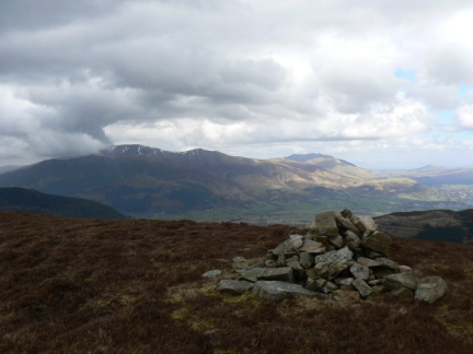The top of Hobcarton End looking towards Skiddaw